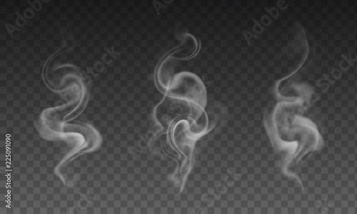 Canvastavla Vector set of realistic transparent smoke effects