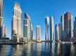 Dubai marina skyline in United Arab Emirates