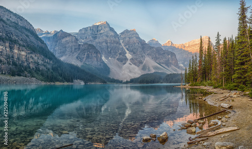 Morraine Lake during the Sunrise, Lake Louise, Banff national park, Alberta, Canada