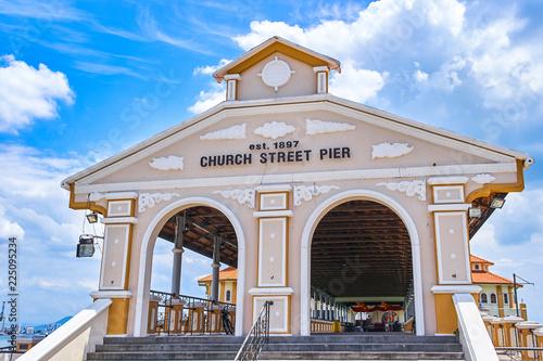 Foto op Aluminium Poort Church street pier in Georgetown, Penang island, Malaysia