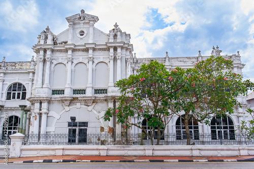Foto op Aluminium Oude gebouw Old house in Penang island, Georgetown, Malaysia