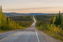 Empty Road Through Alaskan Wil...