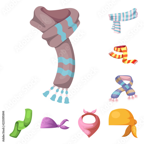 Fotografía Vector illustration of scarf and shawl sign