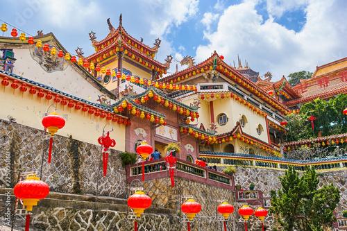 In de dag Bedehuis Kek Lok Si Temple on Penang island, Georgetown, Malaysia