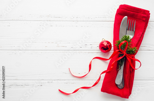 Table setting for celebration Christmas and New Year