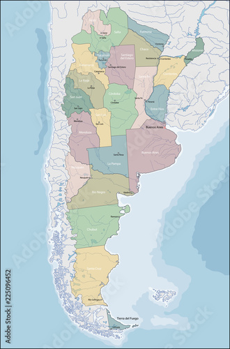 Map of Argentina Wallpaper Mural