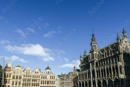 Foto op Canvas Brussel The Grand Place of Brussels with bluish sky