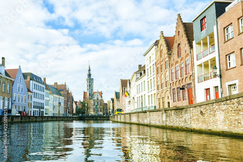 Landscape of the city of Bruges in Belgium