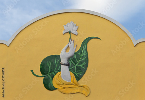 Fotografia  Wall relief in Nha Trang, Vietnam