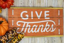 Give Thanks Text Phrase Thanks...