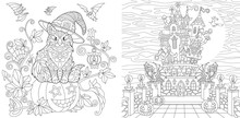 Halloween Coloring Pages With ...