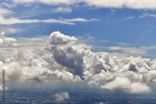 Fotografie, Obraz  Aerial view of Clouds in the Sky