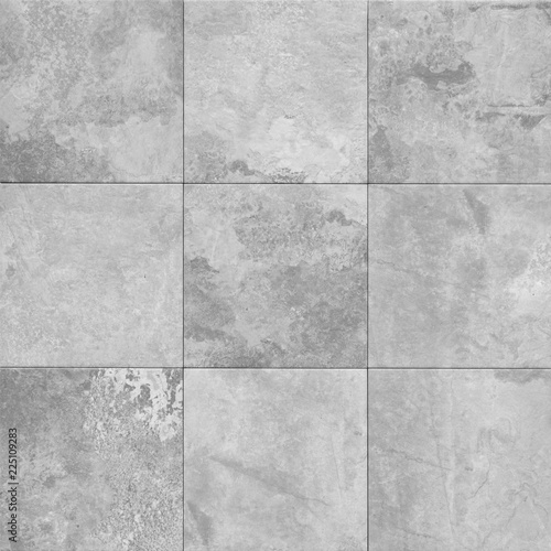 grey stone texture pattern - patchwork tile  /  tiled background Fototapete