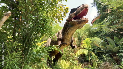 Tyrannosaurus Rex in Jungle Canvas Print