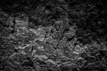 Abstract Black Rock Background...