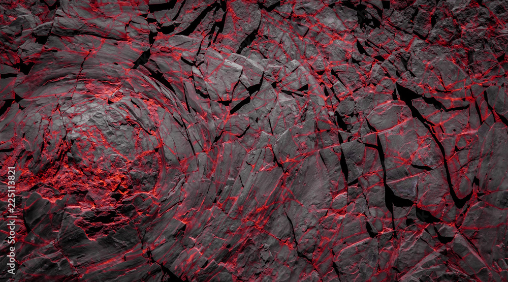 Fototapety, obrazy: black and red rocks - rock stone background
