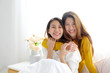 LGBT, Young cute asian women lesbian couple happy moment, friendship, homosexual, lesbian couple lifestyle