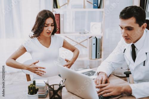 Fotografie, Obraz  Doctor. Clinic. Laptop. Consultation. Gynecology.
