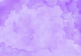 Purple cloudy rectangular watercolor gradient background. Beautiful abstract canvas for congratulations, valentines designs, invitation cards, engagements, postcards, text and etc.
