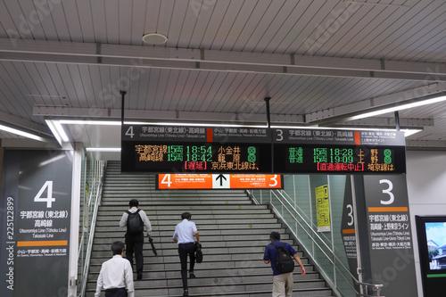 Fotografie, Obraz  台風の影響による電車遅延