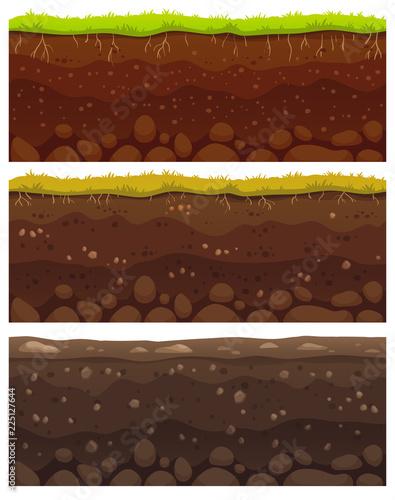 Obraz na plátně Seamless soil layers