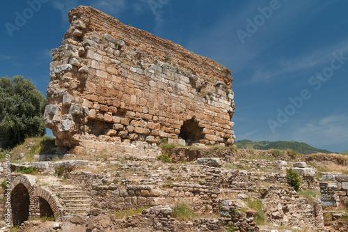 Foto op Aluminium Oude gebouw Ruins of the ancient town Tralles (Tralleis), Turkey