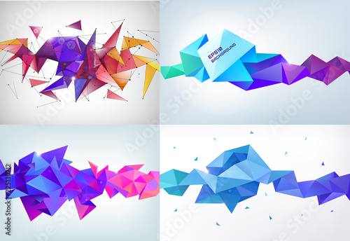 Fotografie, Obraz  Vector realistic abstract 3d shape