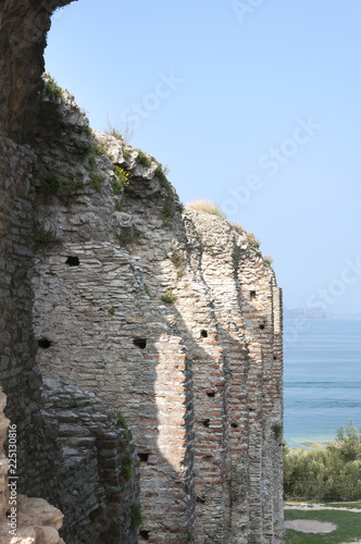 Foto op Canvas Rudnes ruins of an ancient city, stone walls