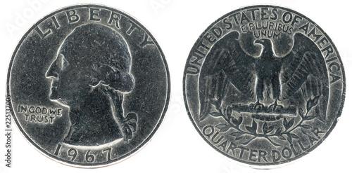 Fotografia  United States Coin. Quarter Dollar 1967.