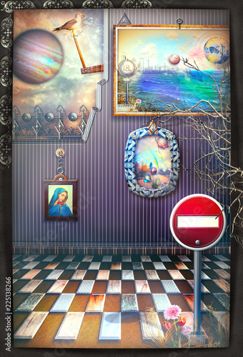 Fotobehang Imagination Reverie. A fairytale, magical and surreal room