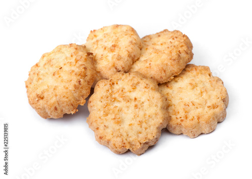 Group of tasty coconut biscuits Fototapeta