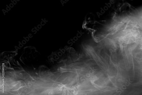 Fototapety, obrazy: Smoky background on black