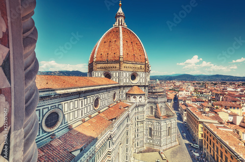 Fotografie, Obraz  Santa Maria del Fiore cathedral in Florence, Italy in summer