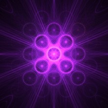 Purple Spinner Circles Rays Gr...