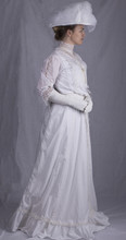 Edwardian Woman In White Dress