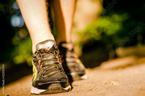 Cadres-photo bureau Jogging Marathon shoe. Outdoor workout.