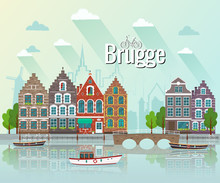 Vector Illustration Of Bruges....