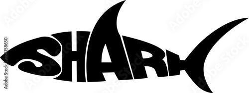 Fotografía stylized word in shape of shark