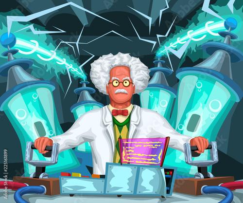 Obraz na płótnie crazy scientist at work