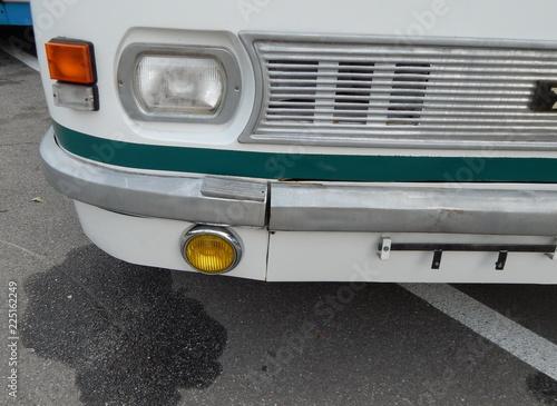 In de dag Vintage cars Retro bus antique items and elements