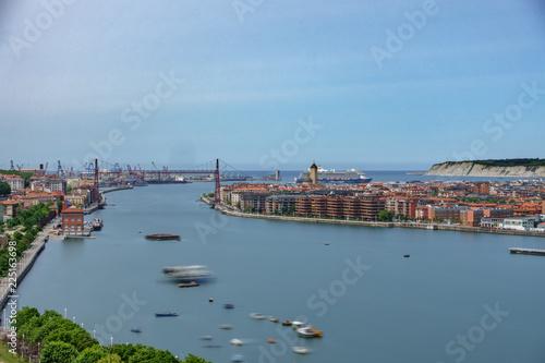 Ultra long exposure of the Bizkaia suspension bridge
