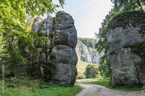 Fototapeta Cracow Gate rock formation in Ojcow National Park, Krakow,Poland obraz