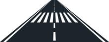 Road And Zebra Crossing