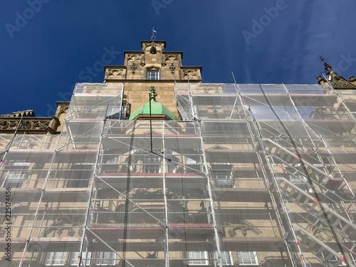Foto op Canvas Oude gebouw Sanierung eines historischen Gebäudes