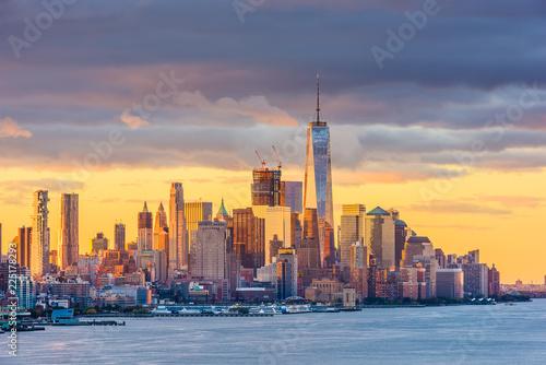 Photo Stands New York New York City Skyline
