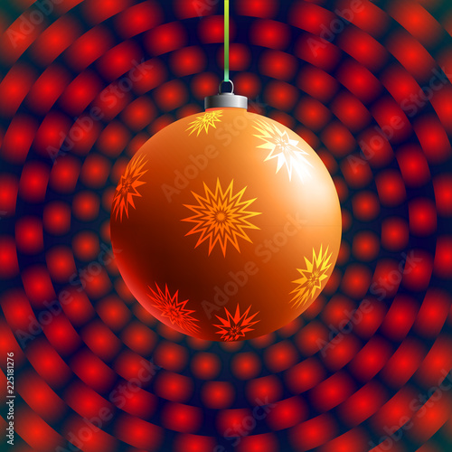 Foto  Colorful glass ball on creative and bright background