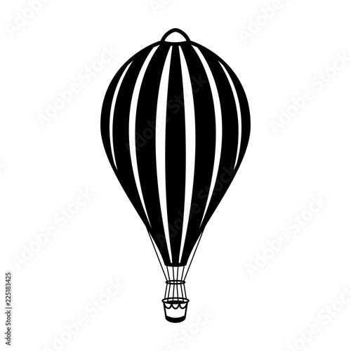 Photo  Air balloon illustration on white background