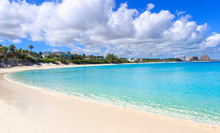Turquoise Water Of Caribbean S...
