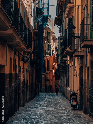 Fototapety, obrazy: small and traditional spanish street