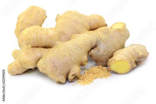 Fotobehang Aromatische Ingwer Pulver
